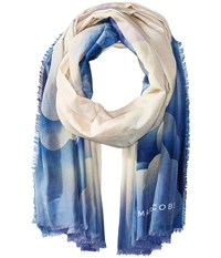 Marc Jacobs Clouds Stole Blue Multi Scarves