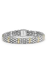 Women's Lagos Oval Rope Caviar Bracelet Silver Gold
