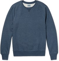 J.Crew Melange Loopback Cotton Jersey Sweatshirt Navy