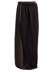 Vetements Wrap Around Cotton Maxi Skirt Black
