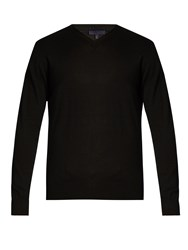 Lanvin V Neck Cashmere Sweater Black