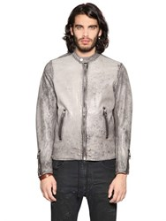 Diesel Heavy Washed Nappa Leather Jacket