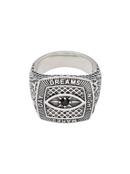 Tom Wood Sterling Silver And Spinel Champion Black Eye Ring