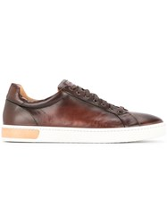 Magnanni Smooth Lace Up Sneakers Brown