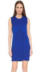 Wgaca Chanel Sleeveless Shift Dress Previously Owned Blue