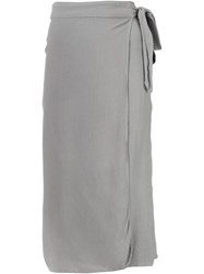 321 Wrap Midi Skirt Grey