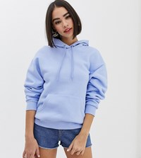 Monki Hooded Sweat In Pastel Blue