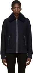 A.P.C. Navy Boucle Stacy Jacket