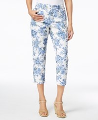 Charter Club Floral Print Capri Pants Created For Macy's Light Blue Air Combo