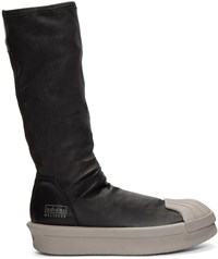 Rick Owens Black Adidas Edition Mastodon Stretch Boot High Top Sneakers