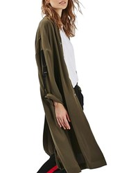 Topshop Women's Bomber Duster Coat