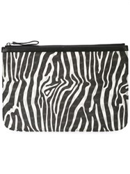 Pierre Hardy Zebra Printed Clutch Black