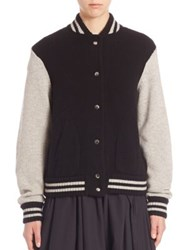 Marc Jacobs Wool And Cashmere Long Sleeve Jacket Black Multi