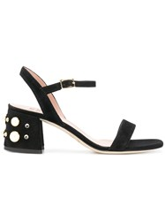 Gianna Meliani Embellished Heel Sandals Black