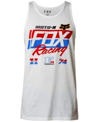 Fox First Placed Logo Print Tank Optic White