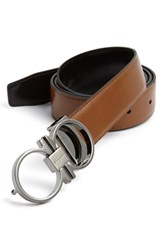 Men's Big And Tall Salvatore Ferragamo Reversible Leather Belt Brown Black