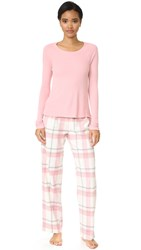 Splendid Festive Flannel Pj Set Dusty Plaid