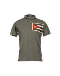 Authentic Original Vintage Style Polo Shirts Military Green