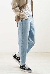 Bdg Exposed Zipper Straight Cropped Jean Vintage Denim Light