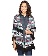 Rock And Roll Cowgirl 3 4 Sleeve Kimono B4 8386 Coral Women's Clothing