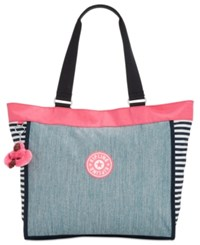 Kipling Shopper Extra Large Tote A Macy's Exclusive Style Pink Indigo Blue Combo