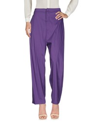 Liviana Conti Casual Pants Purple