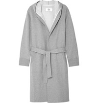 Reigning Champ Loopback Cotton Jersey Hooded Robe Gray