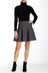 Romeo And Juliet Couture Ponte Skater Skirt Gray
