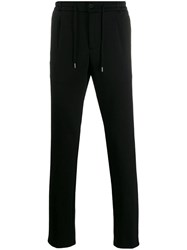Canali Tailored Style Track Pants Black