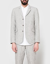 Wings Horns Washed Linen Blazer Ash Grey