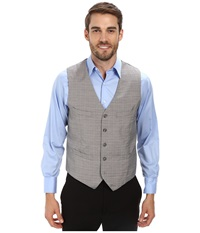 Perry Ellis Micro Check Suit Vest Alloy Men's Vest Gray