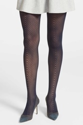 Vince Camuto Openwork Tights Blue
