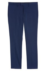 Topman Skinny Fit Suit Pants Mid Blue