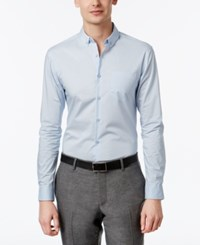 Inc International Concepts Men's Slim Fit Stretch Shirt Only At Macy's Light Blue