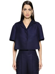 Salvatore Ferragamo Cropped Short Sleeve Viscose Jacket