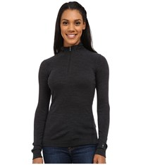 Smartwool Nts Mid 250 Baselayer Zip Top Charcoal Heather Long Sleeve Pullover Gray