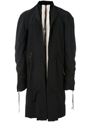 Cedric Jacquemyn Zipped Kimono Coat Men Linen Flax Viscose 52 Black
