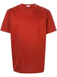Gieves And Hawkes Chest Pocket T Shirt Red