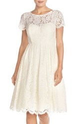 Women's Jenny Yoo 'Cadence' Keyhole Back Lace Fit And Flare Dress