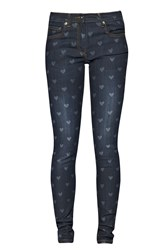 Great Plains Love Heart Skinny Jeans Blue