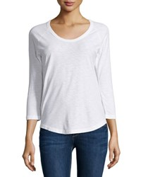 James Perse Long Sleeve Raglan T Shirt White