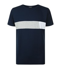 Homebody Chest Stripe Lounge T Shirt Male Navy