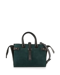 Cnc Costume National Suede And Leather Tote Bag Forest Green Costume National