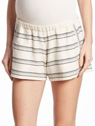 Hatch Relaxed Striped Shorts Black White