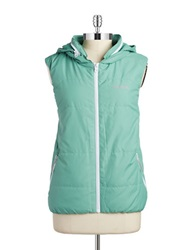 Bench Hooded Zip Up Vest Creme De Menthe