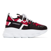 Versace Black And Red Nyc Runway Chain Reaction Sneakers