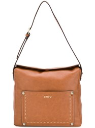 Liu Jo Classic Shoulder Bag Brown