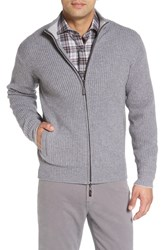 Peter Millar Men's Hawthorn Zip Wool And Cashmere Cardigan