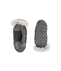 Ugg Quilted Fabric Mitten Grey Multi Extreme Cold Weather Gloves Gray