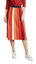 Tory Sport Vertical Striped Skirt Pace Stripe Red